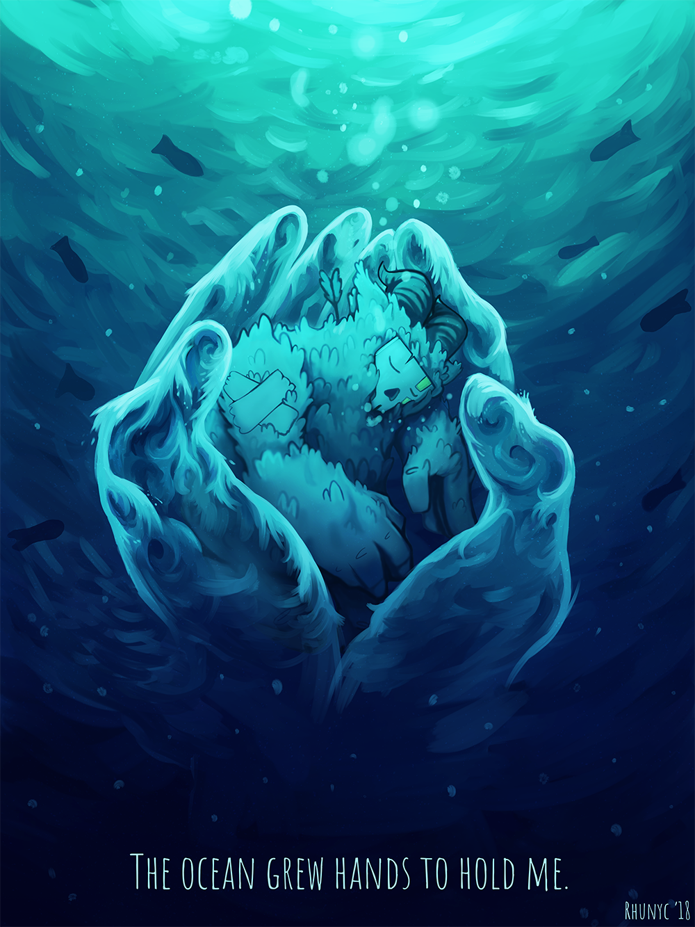 The ocean grew hands to hold me