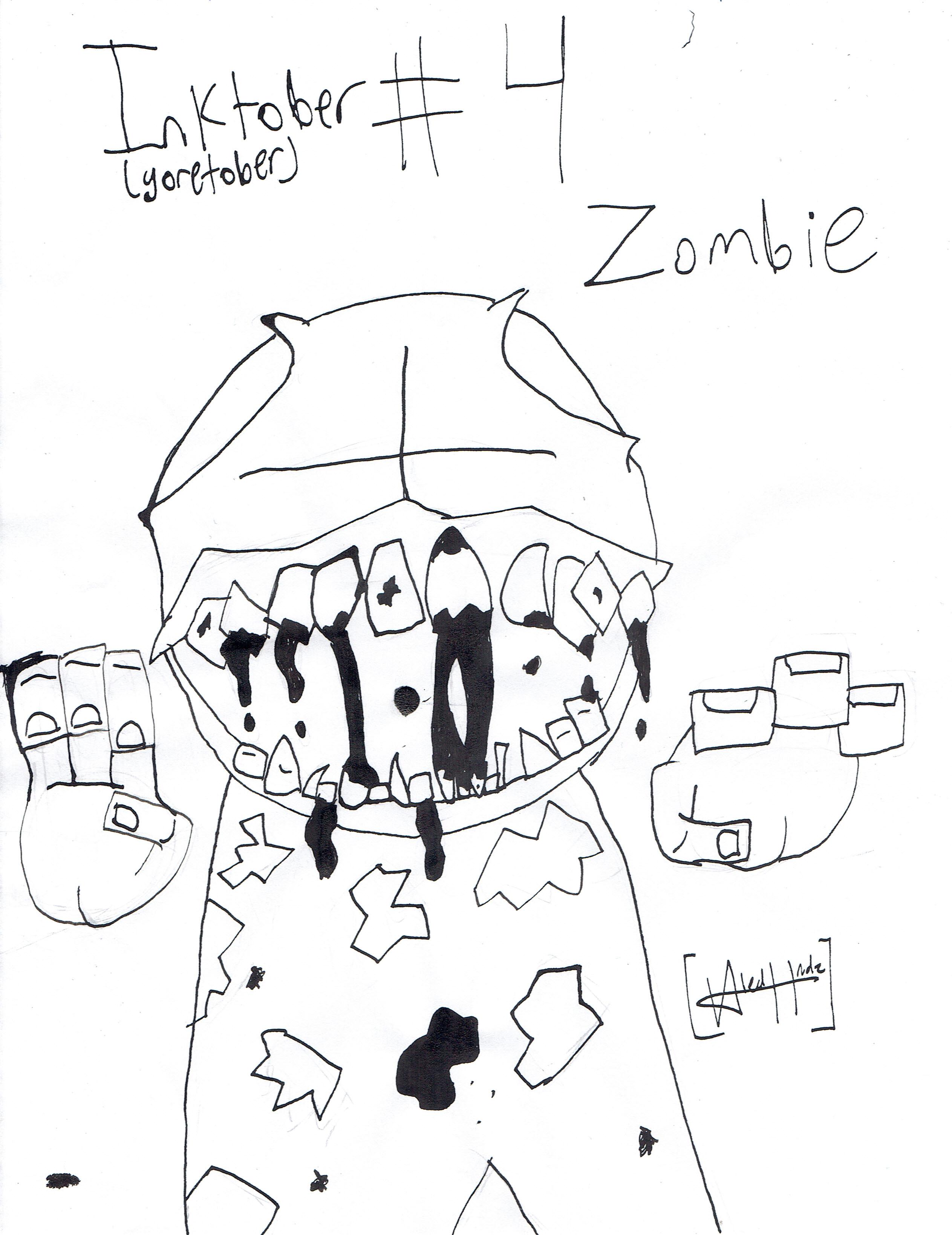 Inktober day 4: Zombie