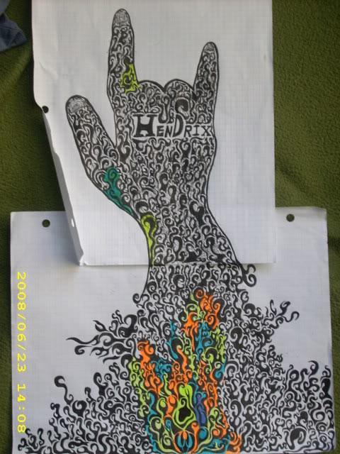 Psychedelic Hendrix Hand