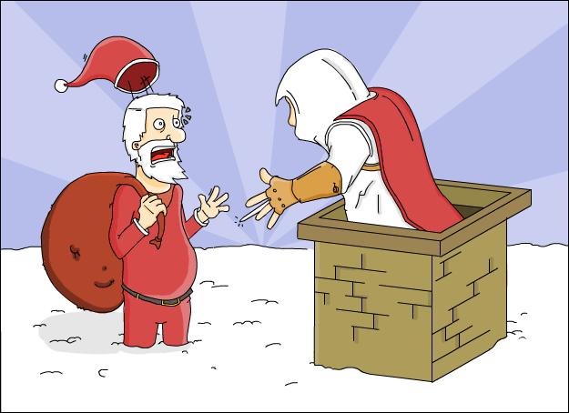 Santa meets Ezio