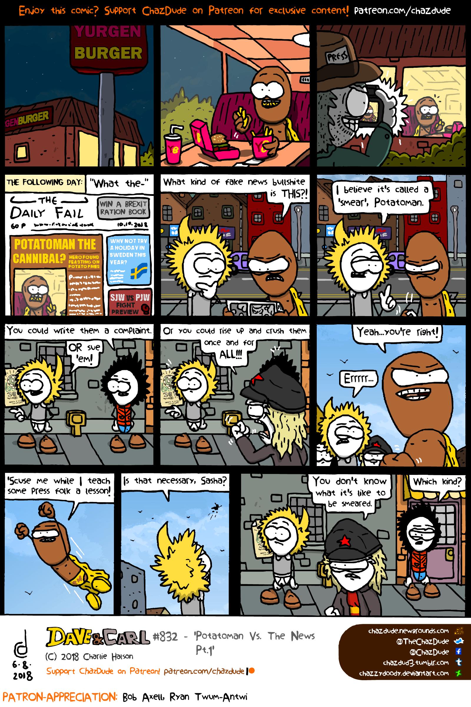 Potatoman Vs. The News Pt.1