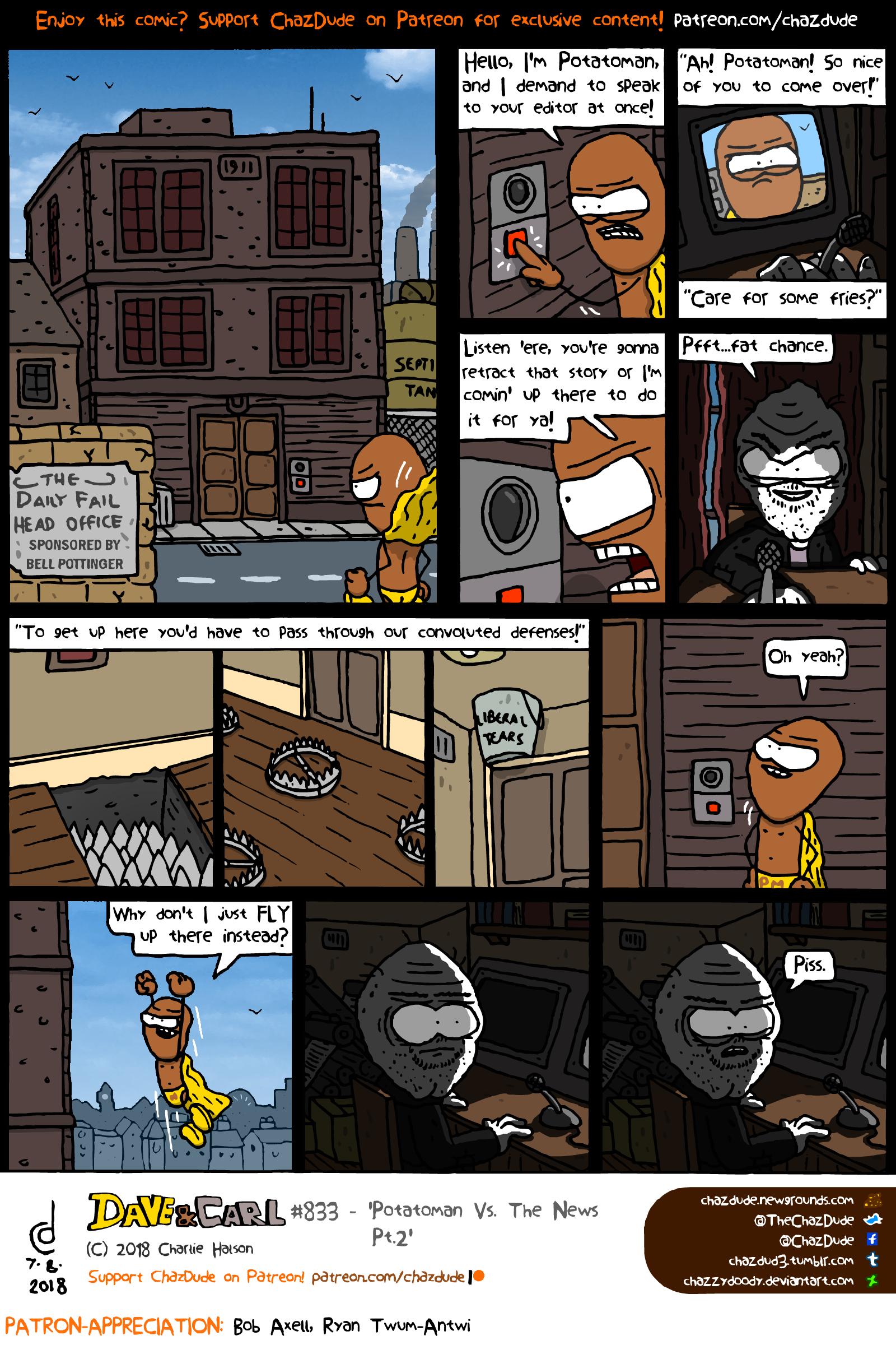 Potatoman Vs. The News Pt.2