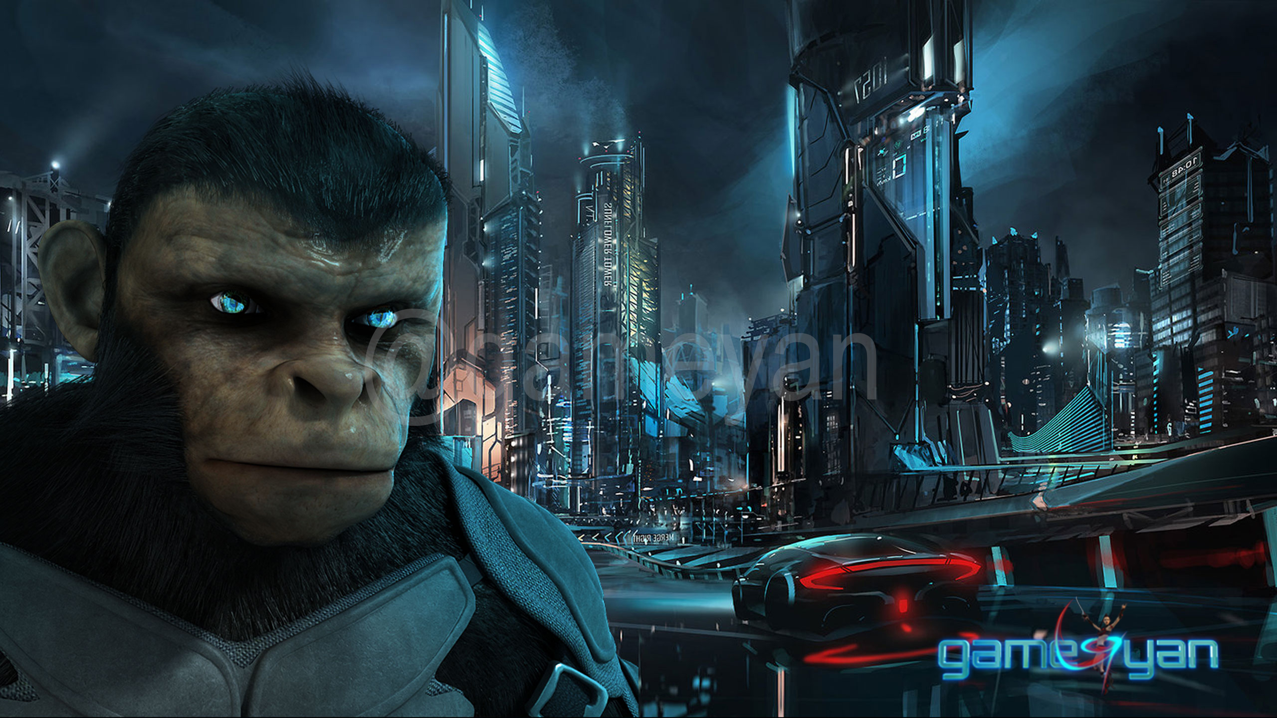 Cinematic 3D Character of Kung Fu Ape – sci-fi Cartoon feature film by Gameyan 2d art outsourcing