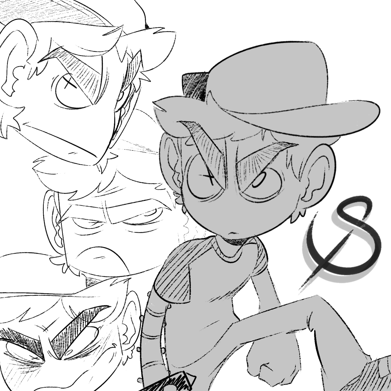 Angry Warm up Drawings- Spinalpalm