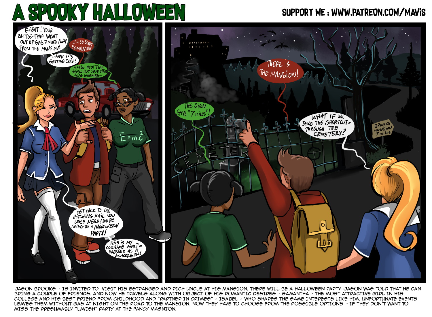 Spooky Halloween page 1