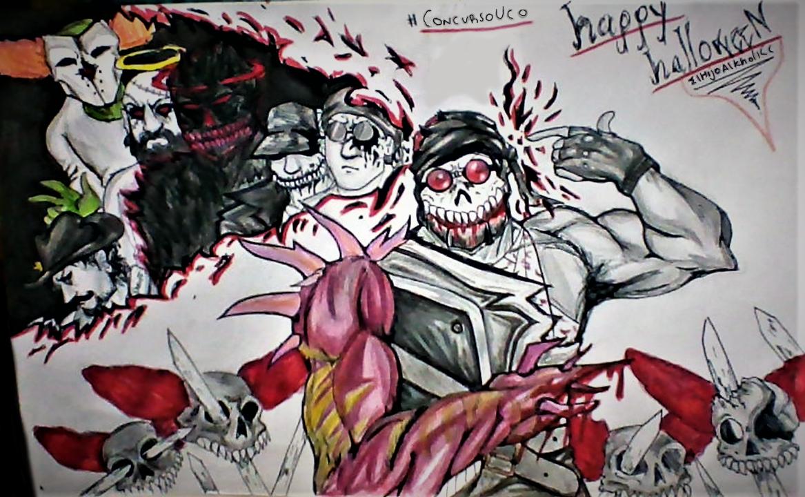 Happy Halloween Madness Combat Draw!