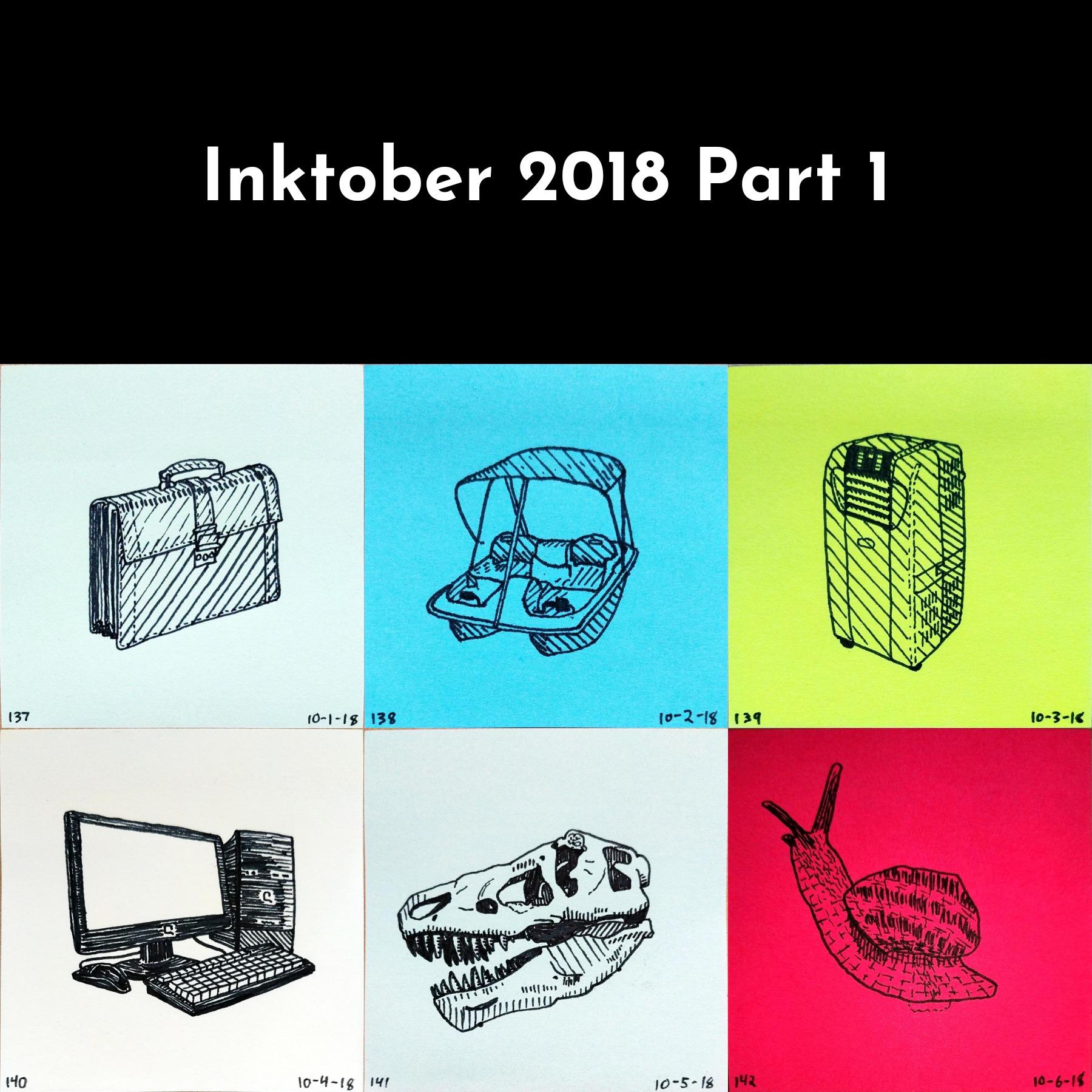 Inktober 2018 Part 1