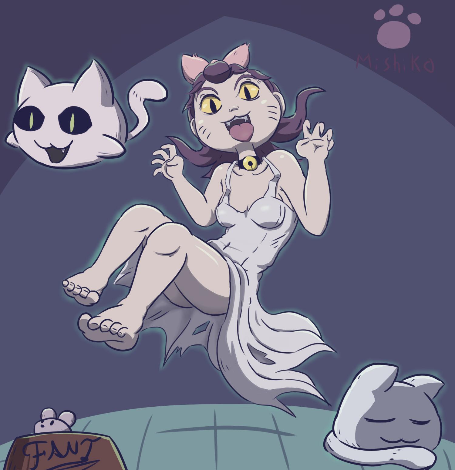 Mishiko the ghost cat