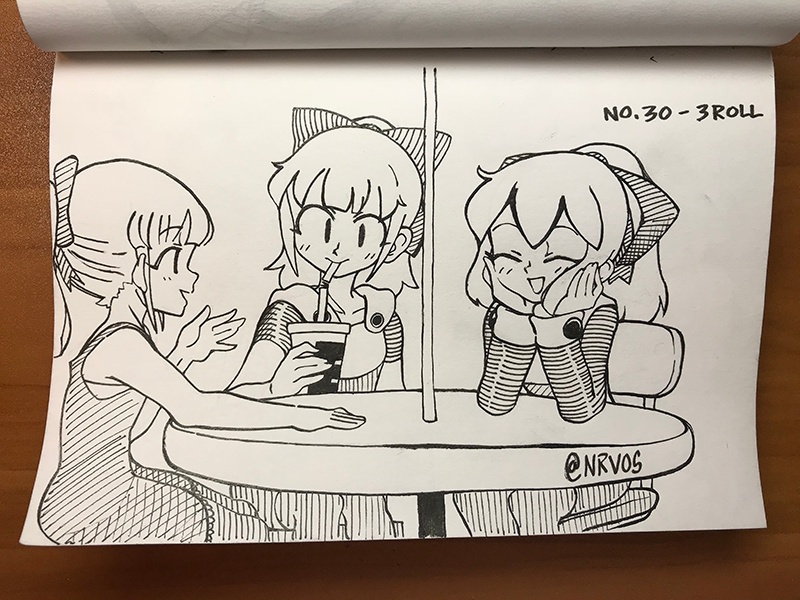 Inktober 2018 - No. 30 - Roll, Roll, and Roll