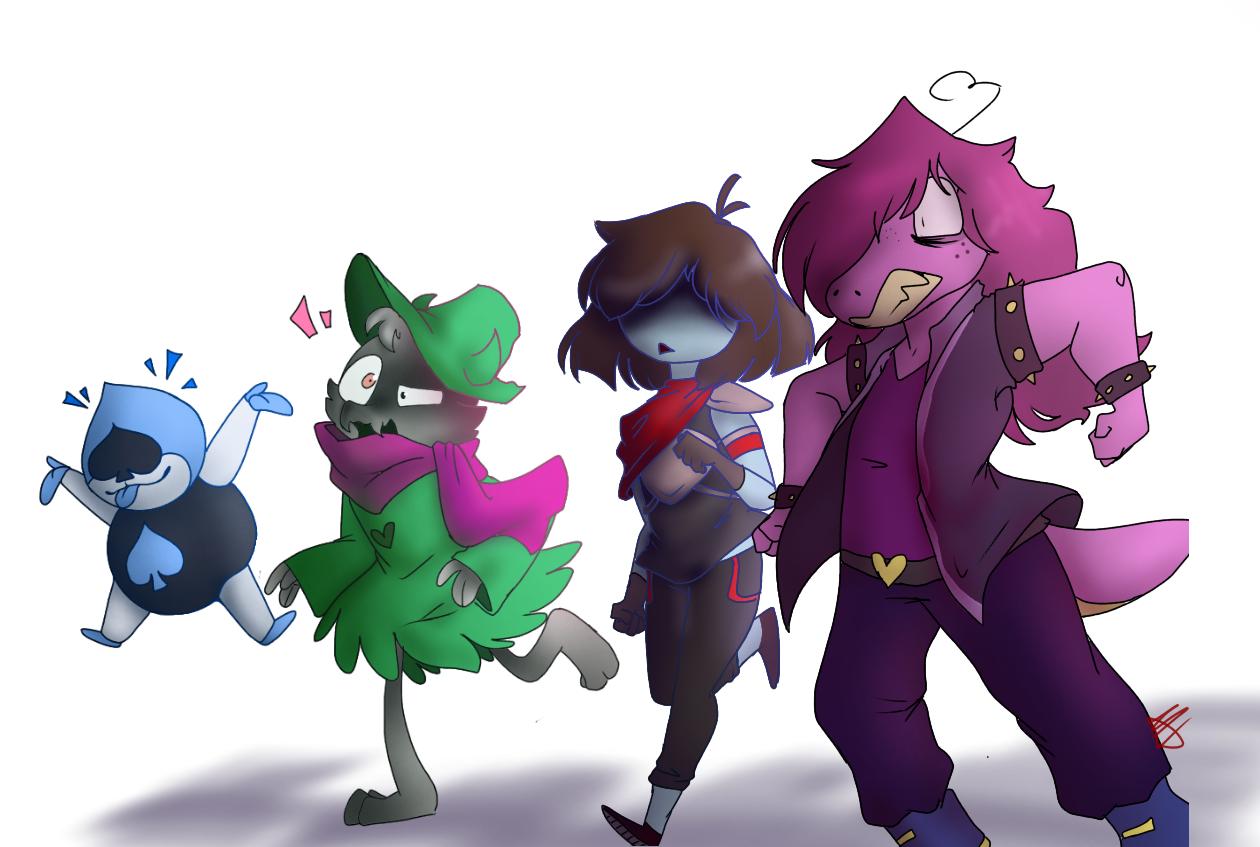 Deltarune characters by DJDizzy101 on Newgrounds