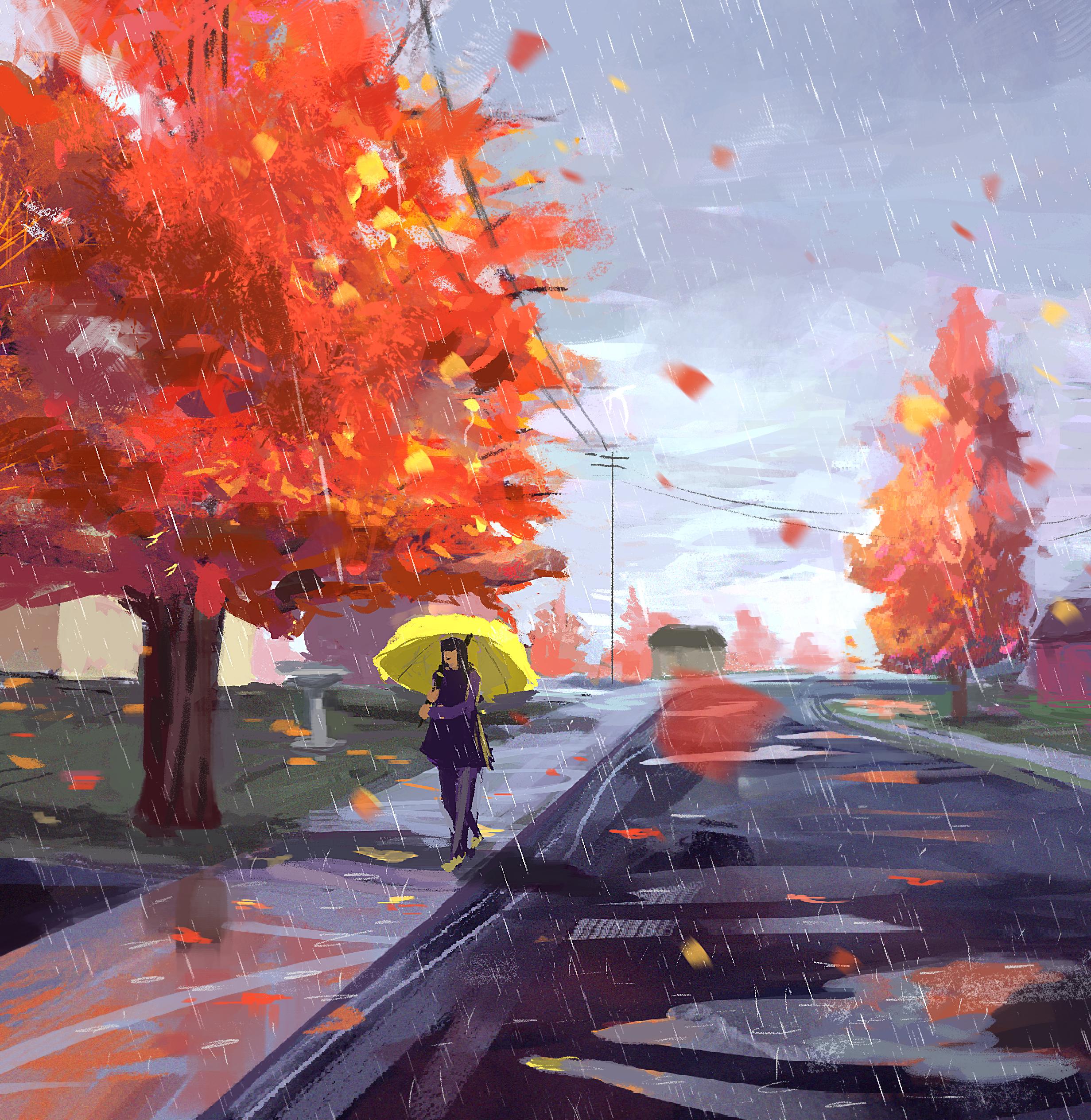 Rainy Fall Day