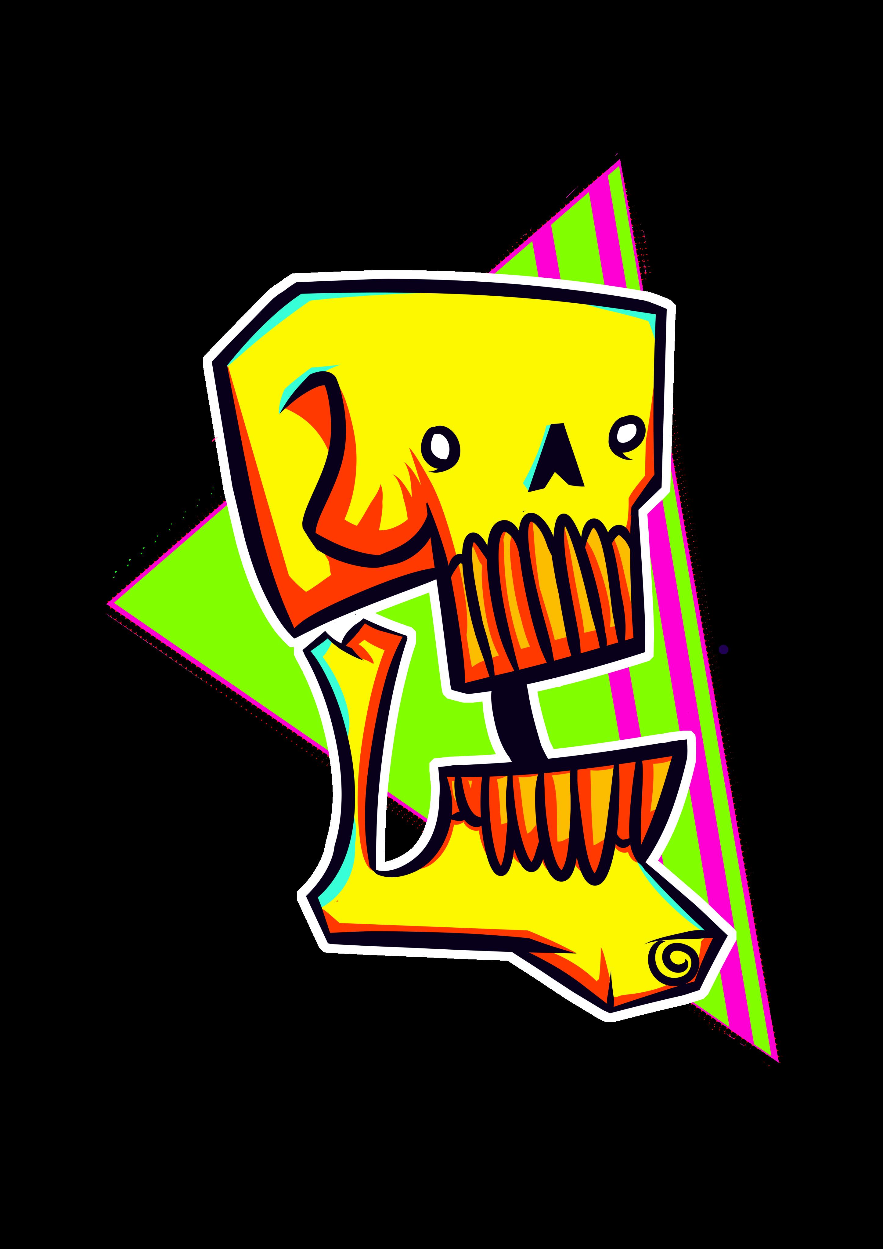 T-shirt skull design #1