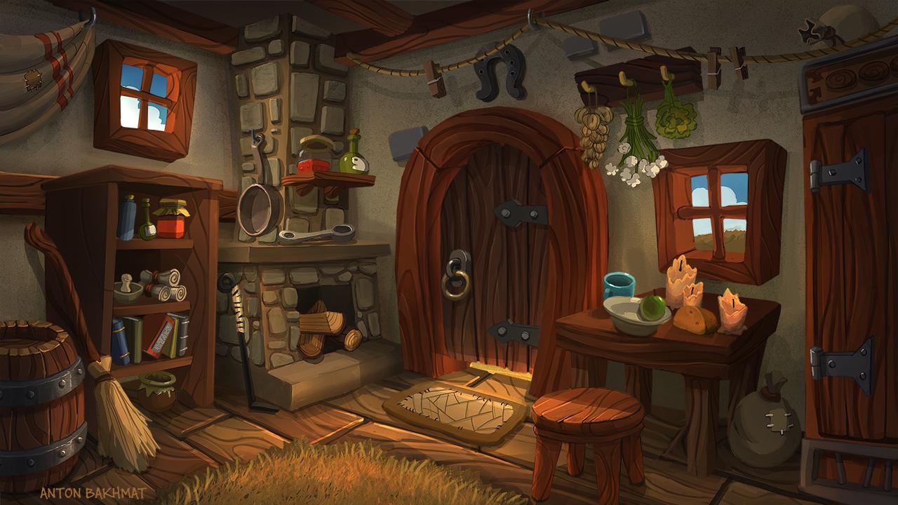 old hut inside