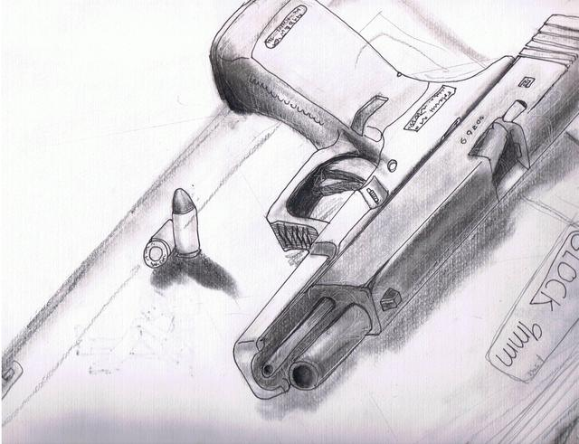 Glock drawn by hand