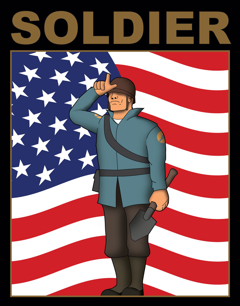 TF2 Soldier poster