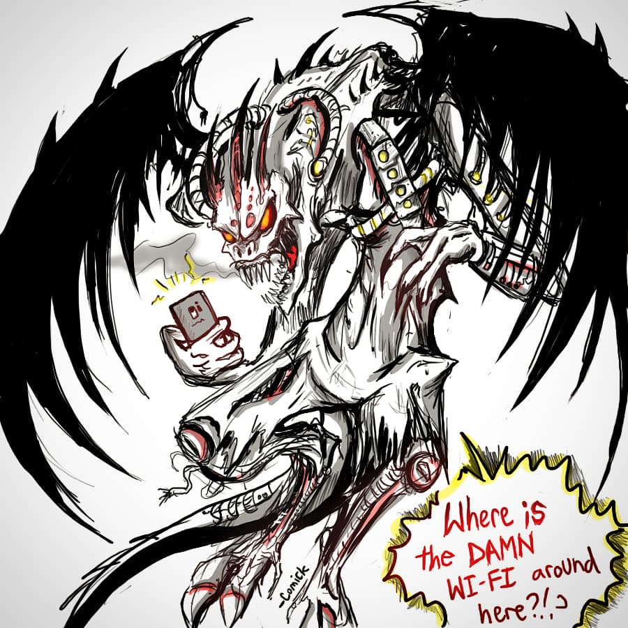 Coffee Doodles -Cyberdevil