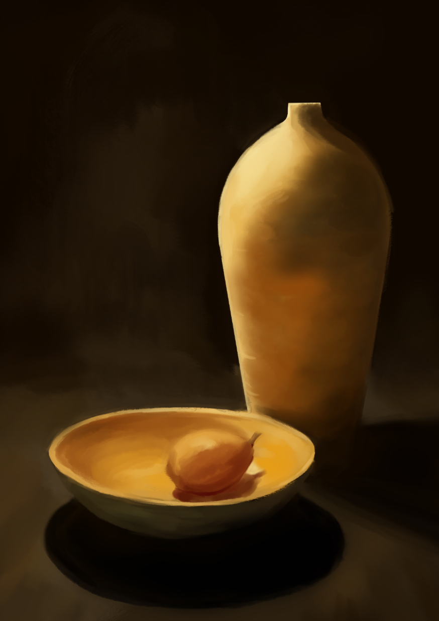Vase and Lemon