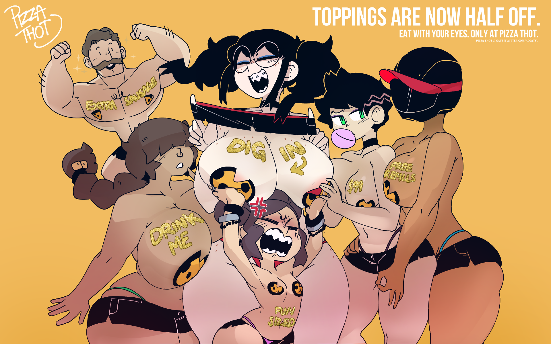 """PIZZA THOT - PAPE SERIES - """"Toppings"""""""