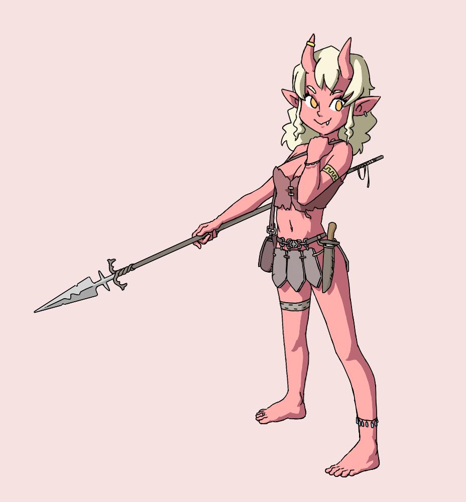Hunter demon girl