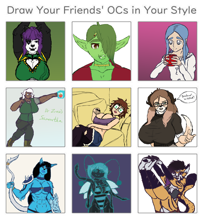 Draw Your Friends Ocs In Your Style By Cosmicdairyprairie On Newgrounds