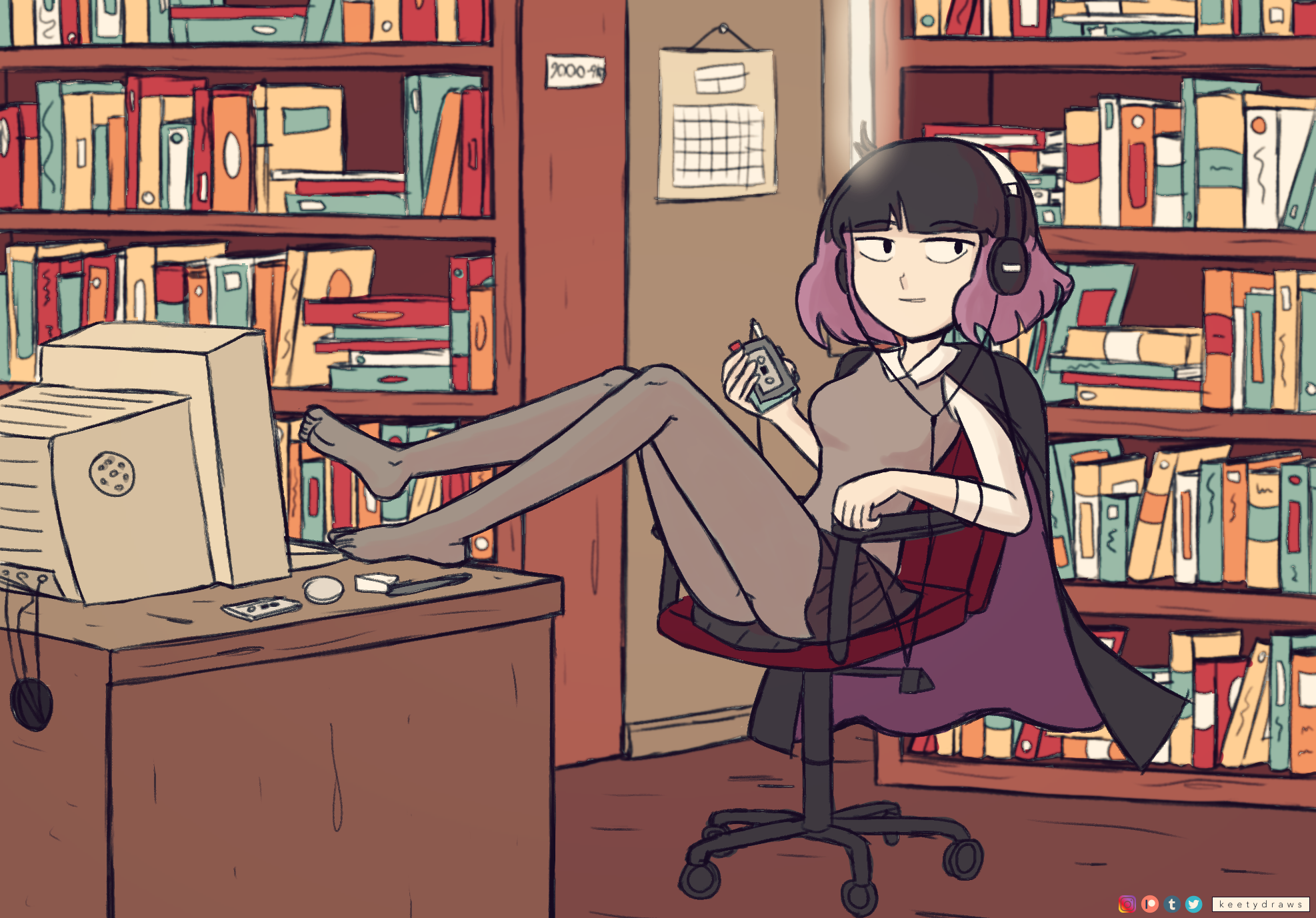 Librarian from Hilda