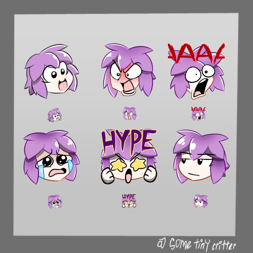 Twitch Emotes by SomeTinyCritter on Newgrounds