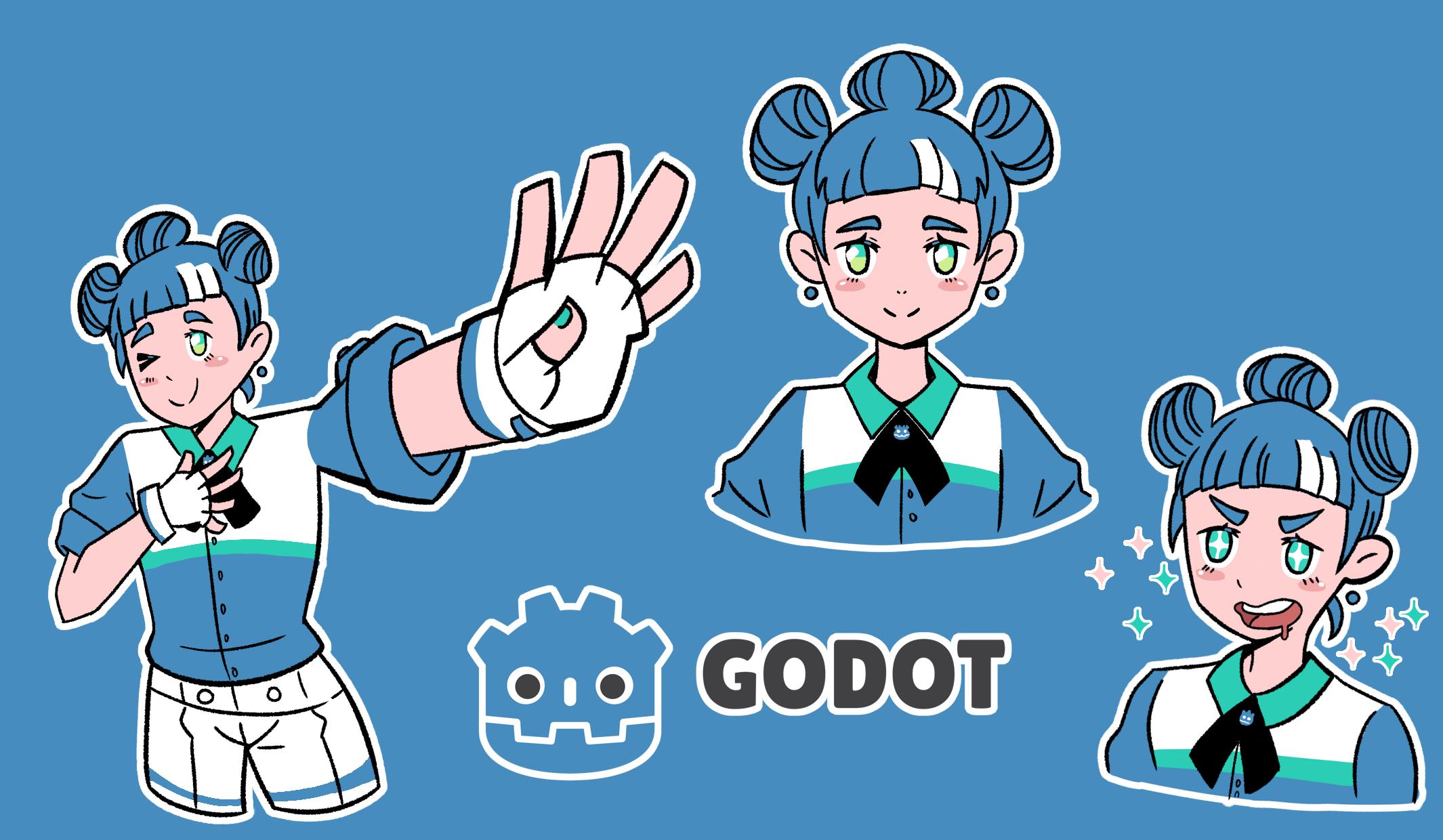 Godot Chan (Godot Game engine mascot) by DoniArts on Newgrounds