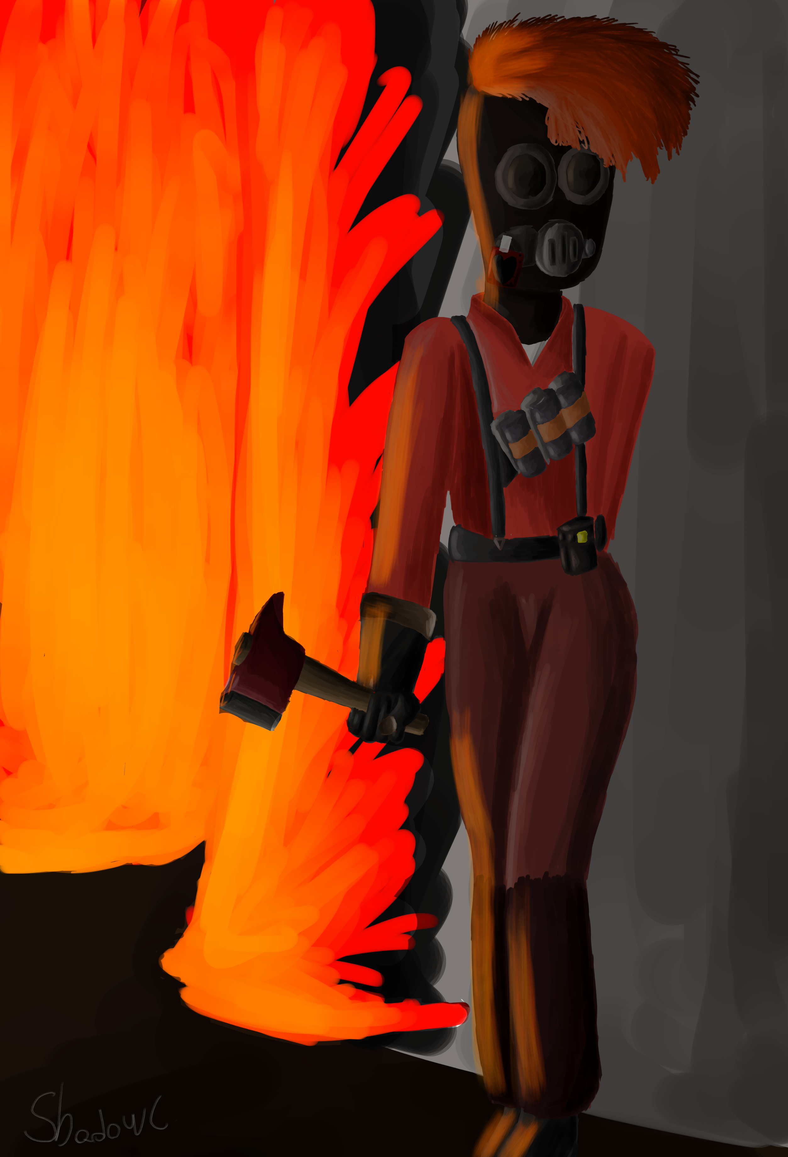 Fire behind you