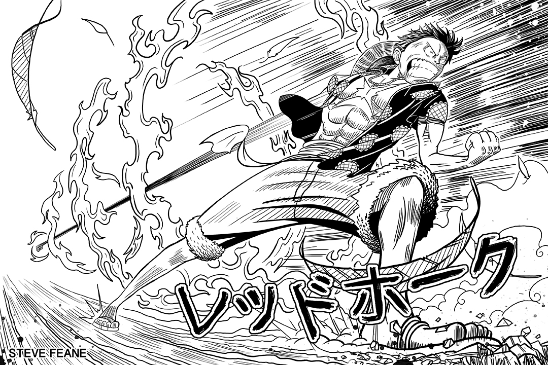 Luffy's Red Hawk