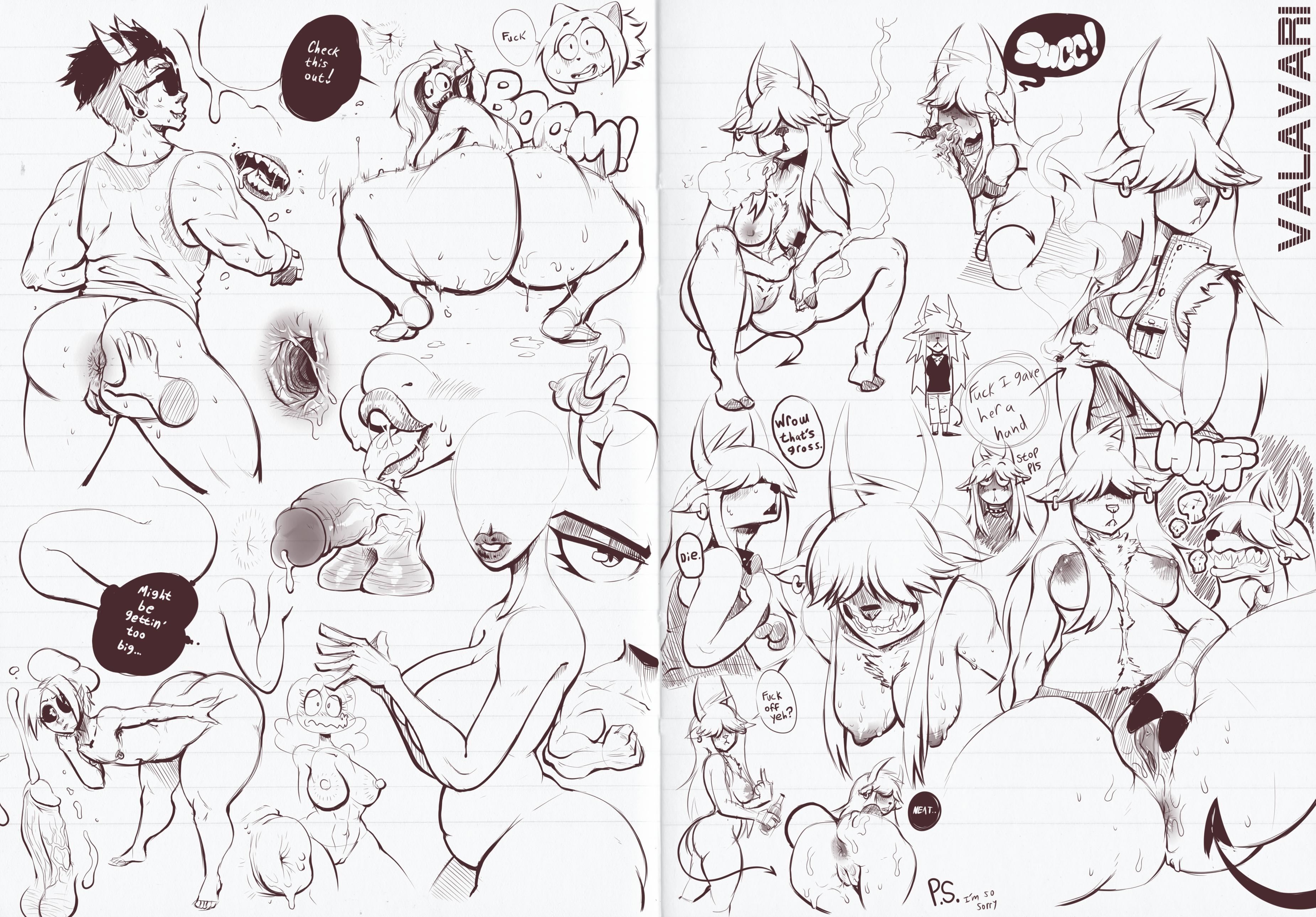 Digital Sketchbook - Page 1 & 2