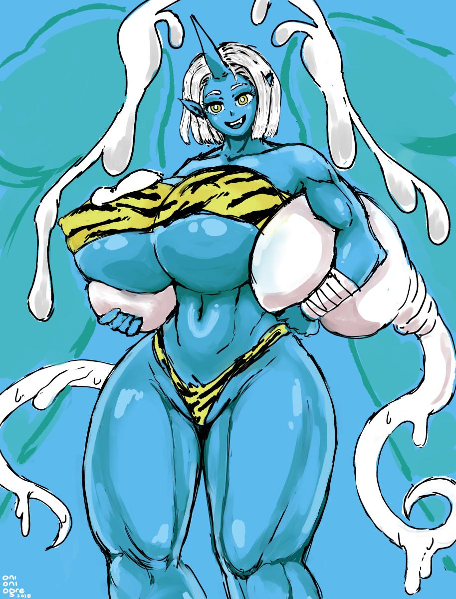Big Tiddie Blue Oni