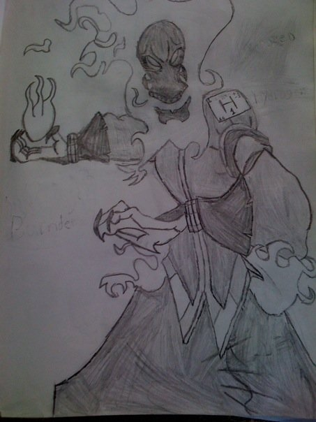 Fire skeleton demon guy