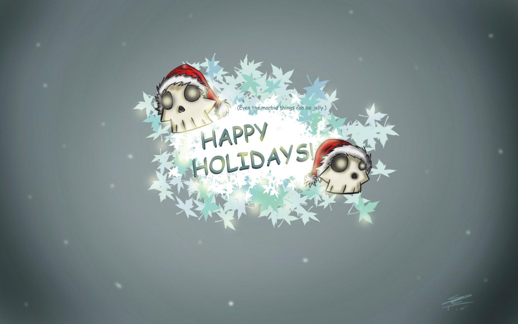 Happy Holidays Skull