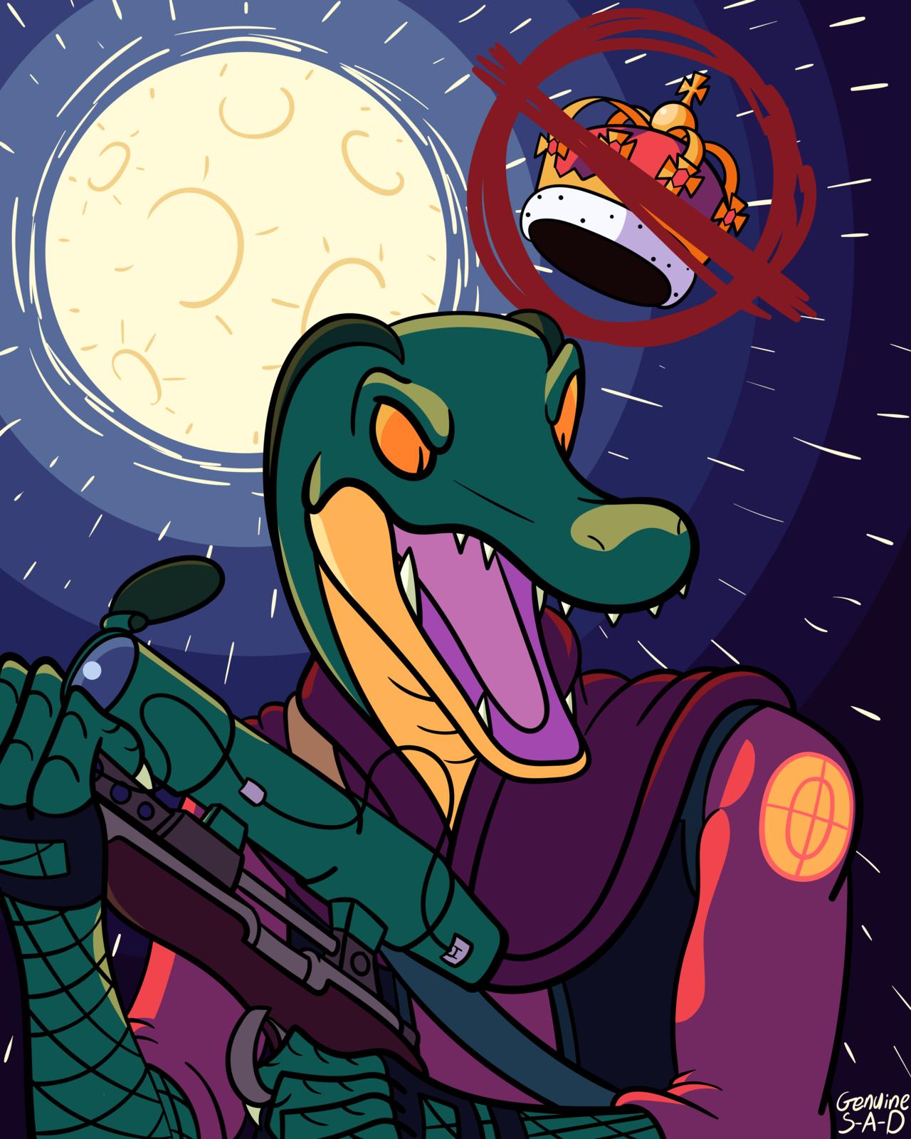 God, I'm good at bein' a crocodile
