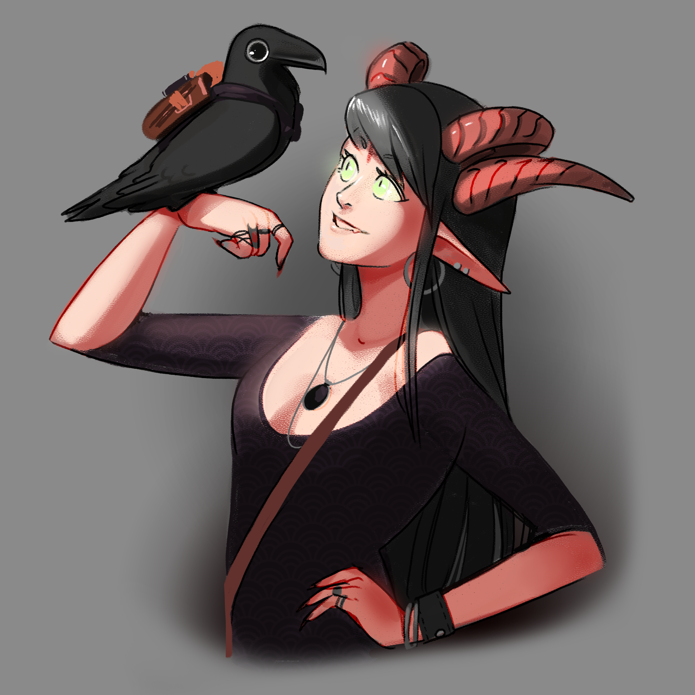 Rin and Edgar - A Witch and her Familiar