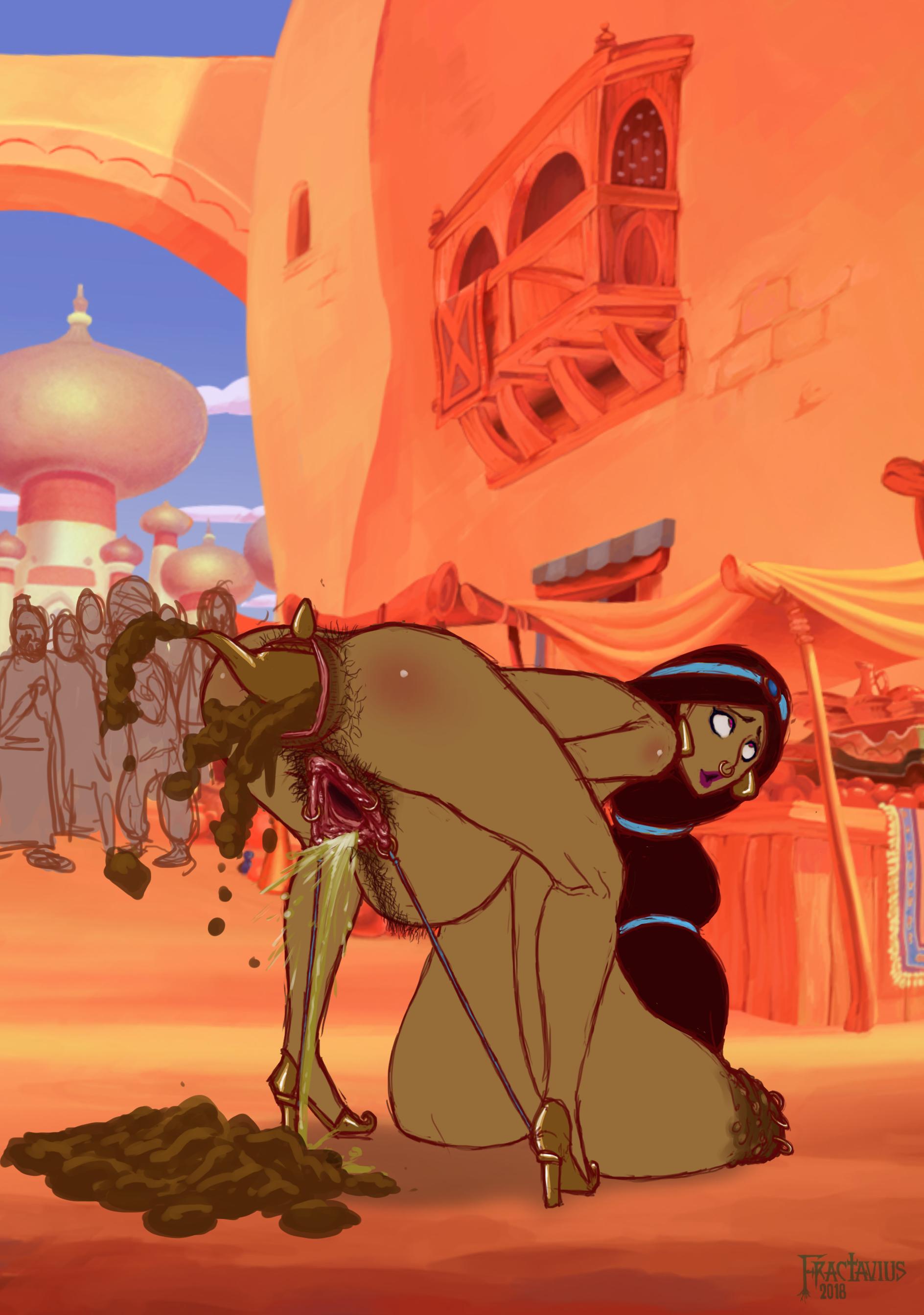 Jasmine's Jumbo Agrabah Ass Gape - Scat Version