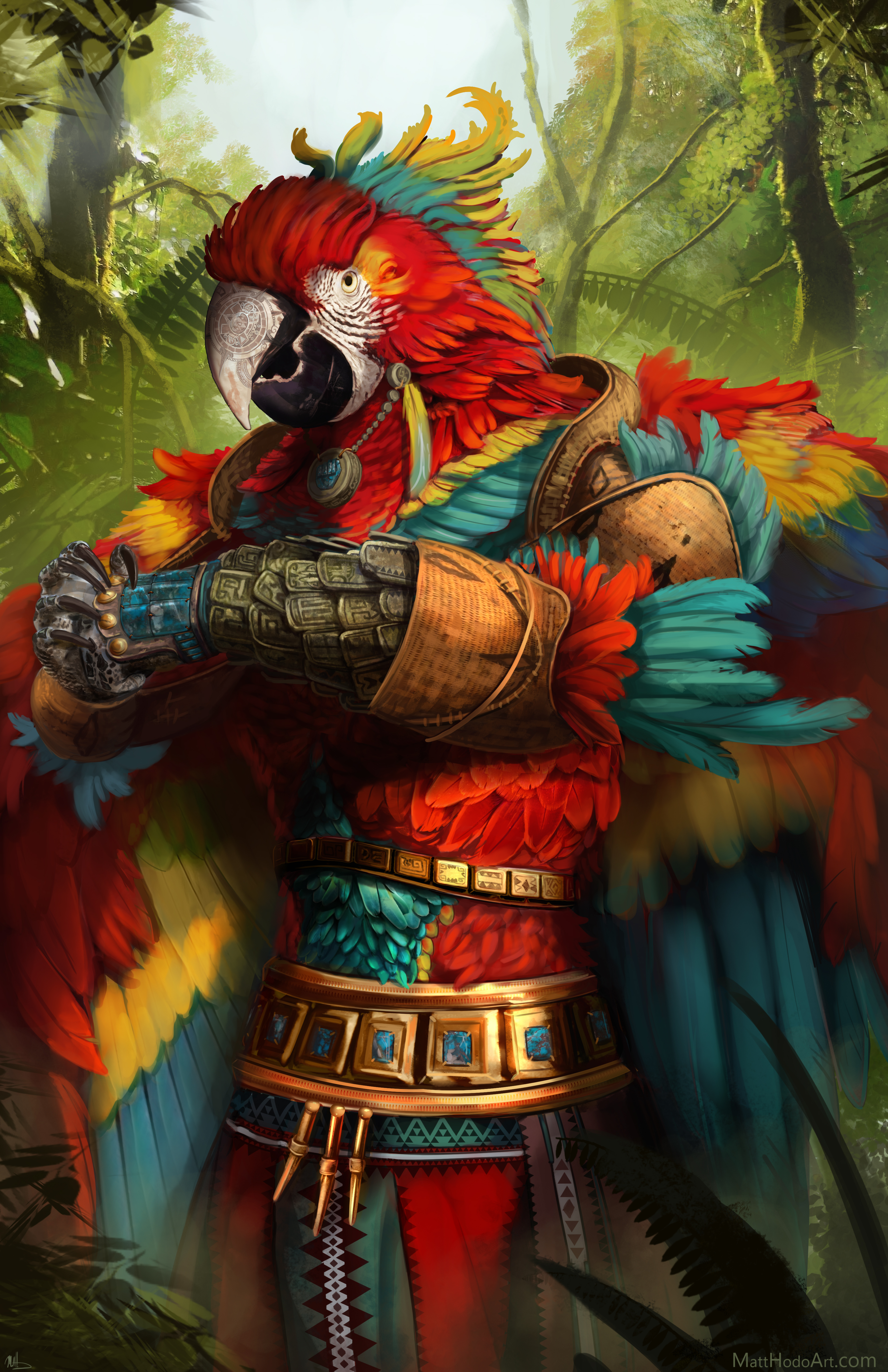 Macaw Monk