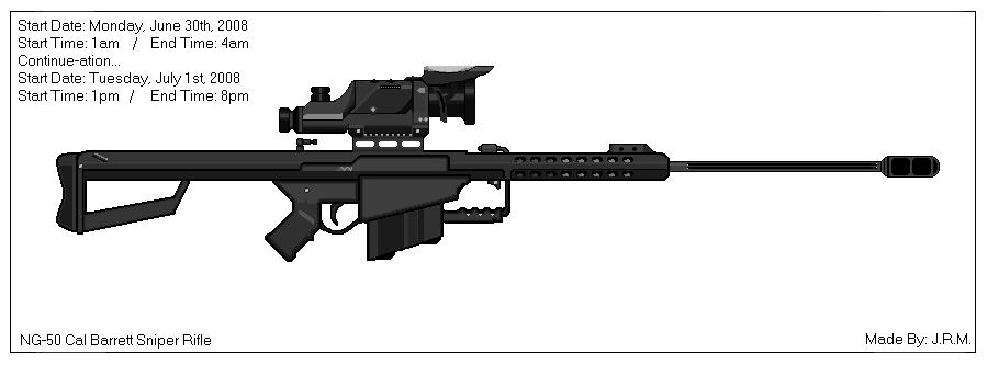 50 Cal Barret Sniper Rifle