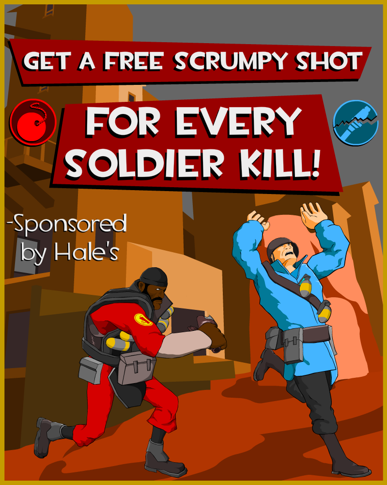 Team Fortress 2 Demoman poster