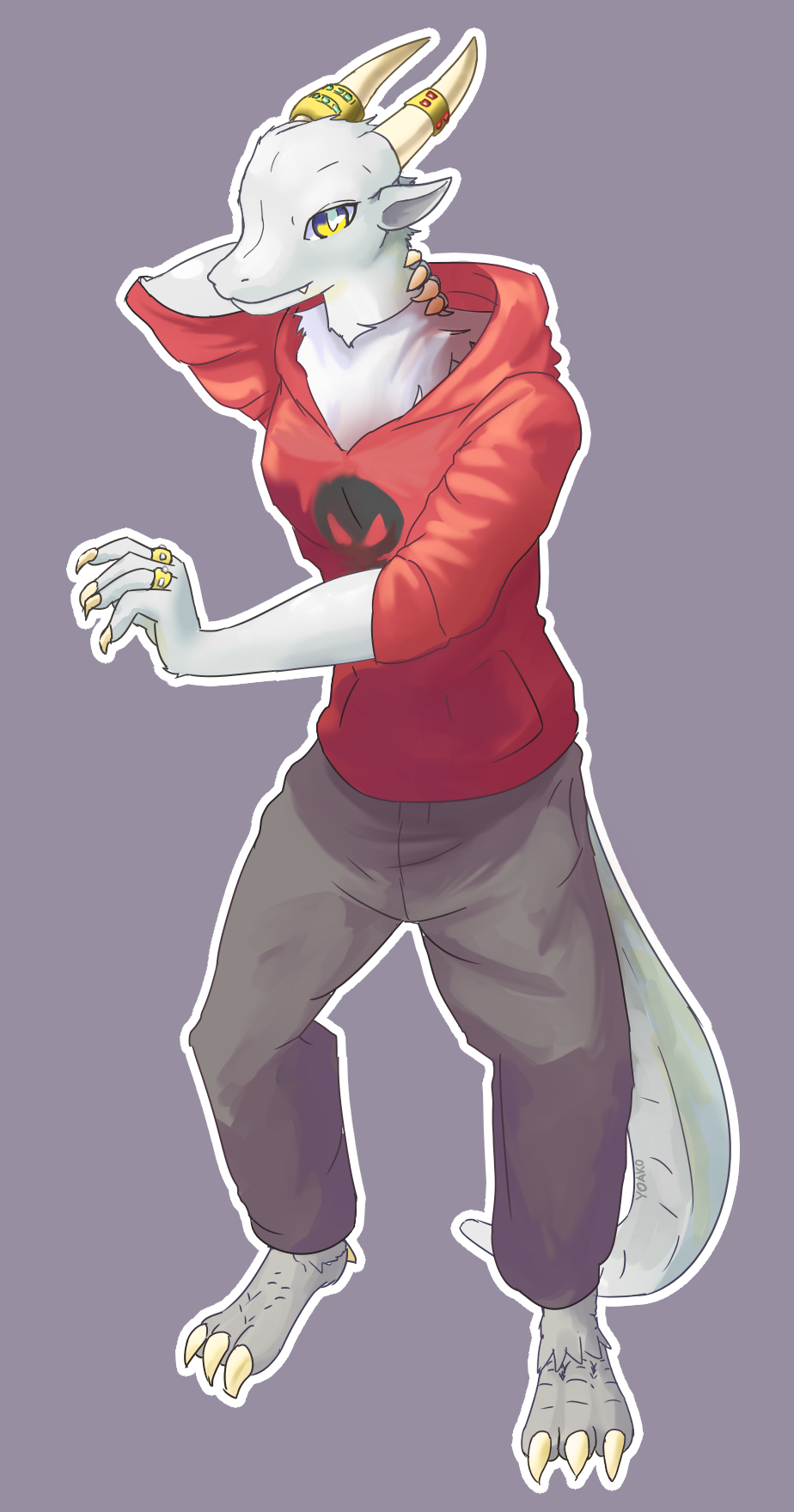 Earth dragon character commission