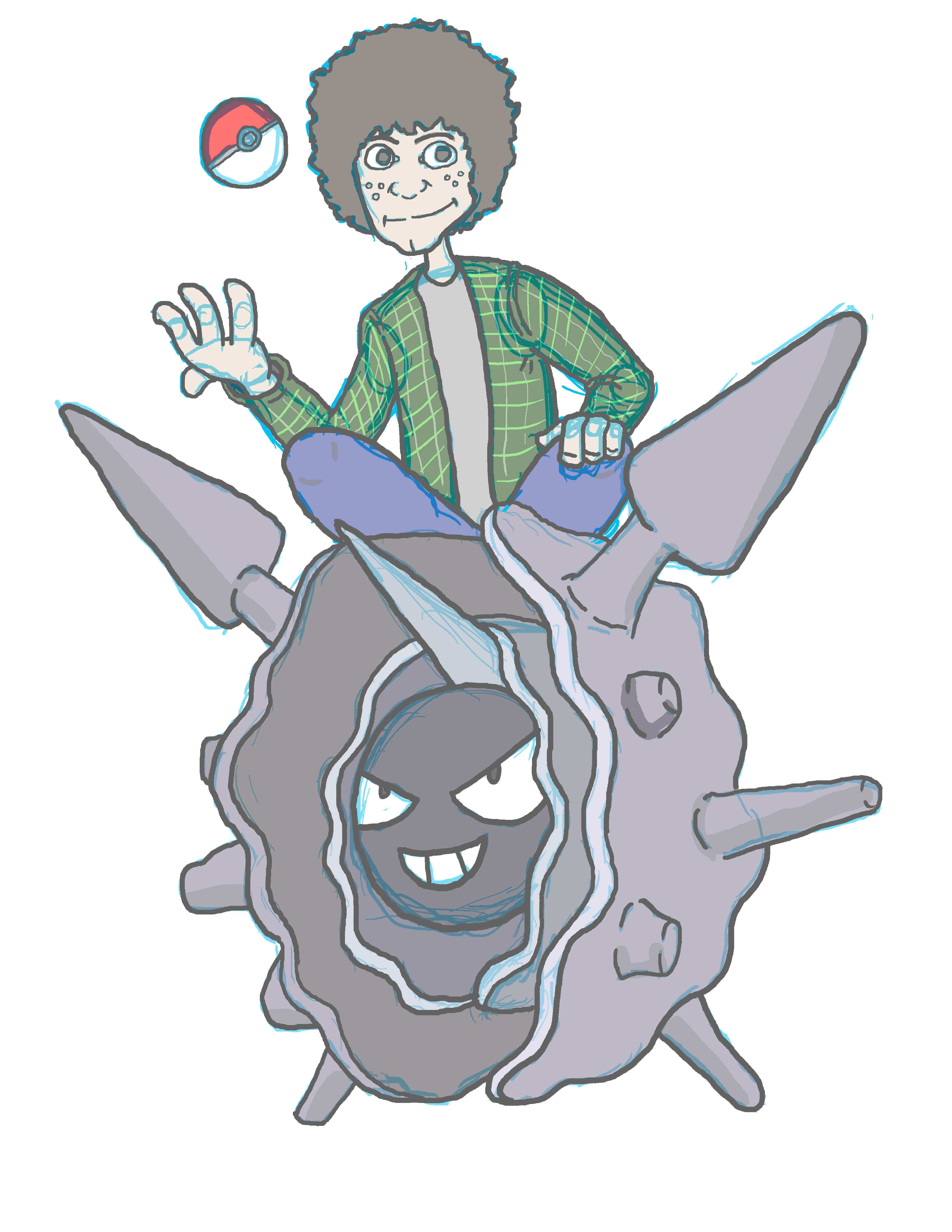 Pokemon Trainer and Cloyster