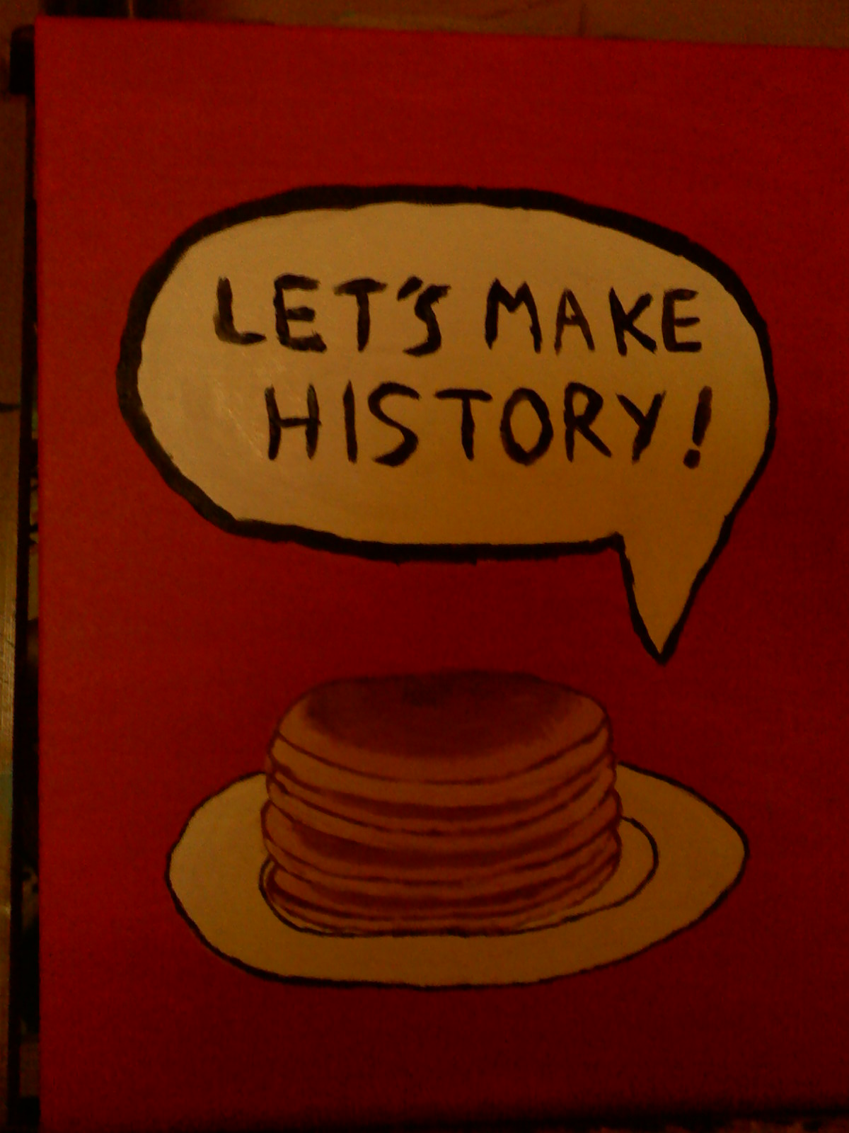 history with pancakes
