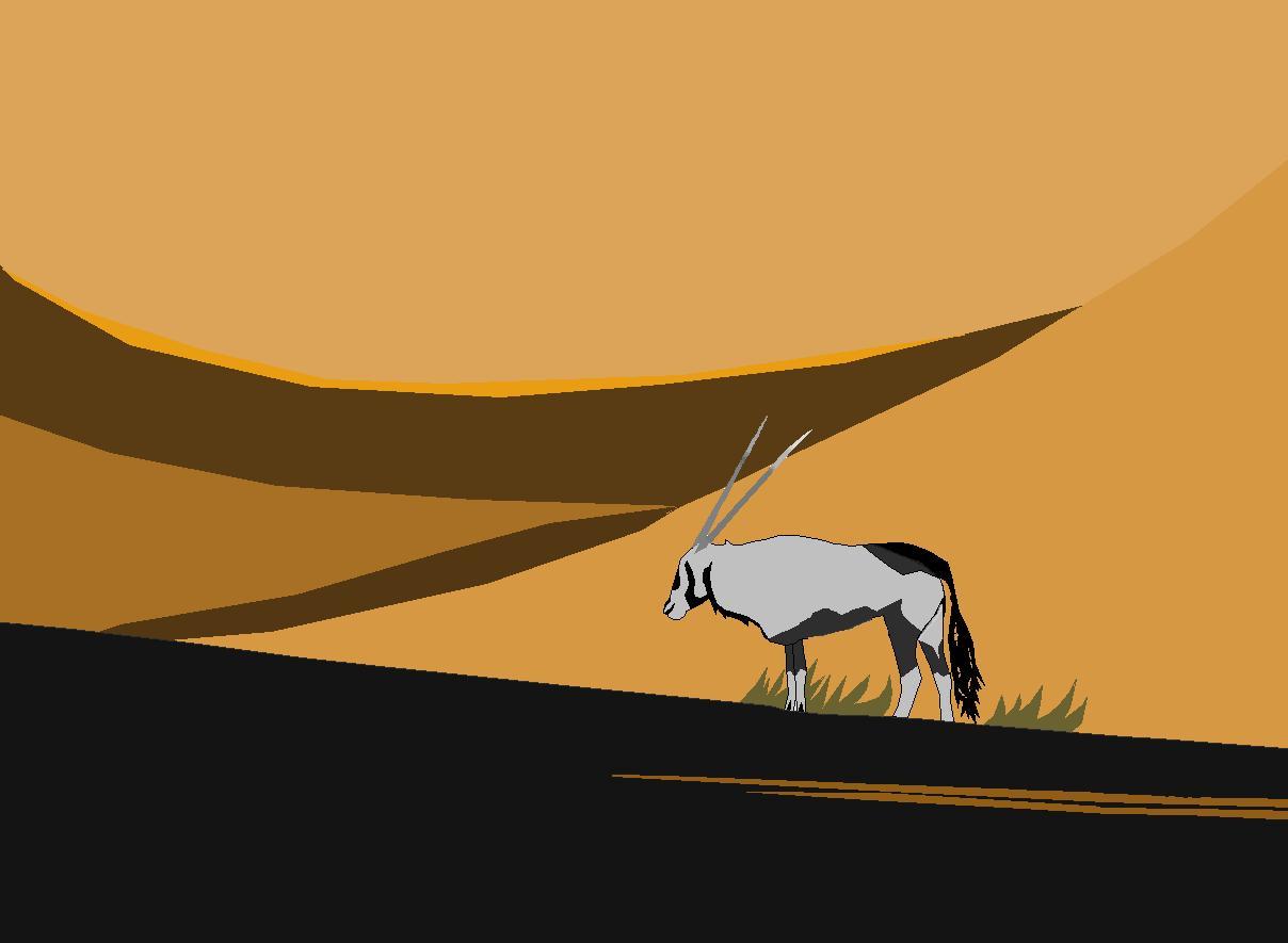 Desert In Evening