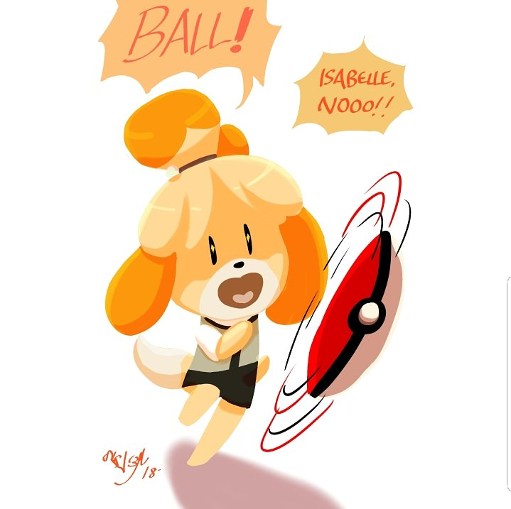 Isabelle's in Smash Bros
