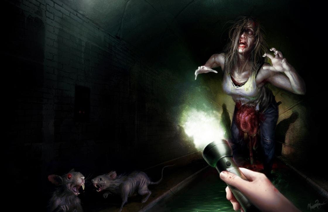 Zombie in tunnels