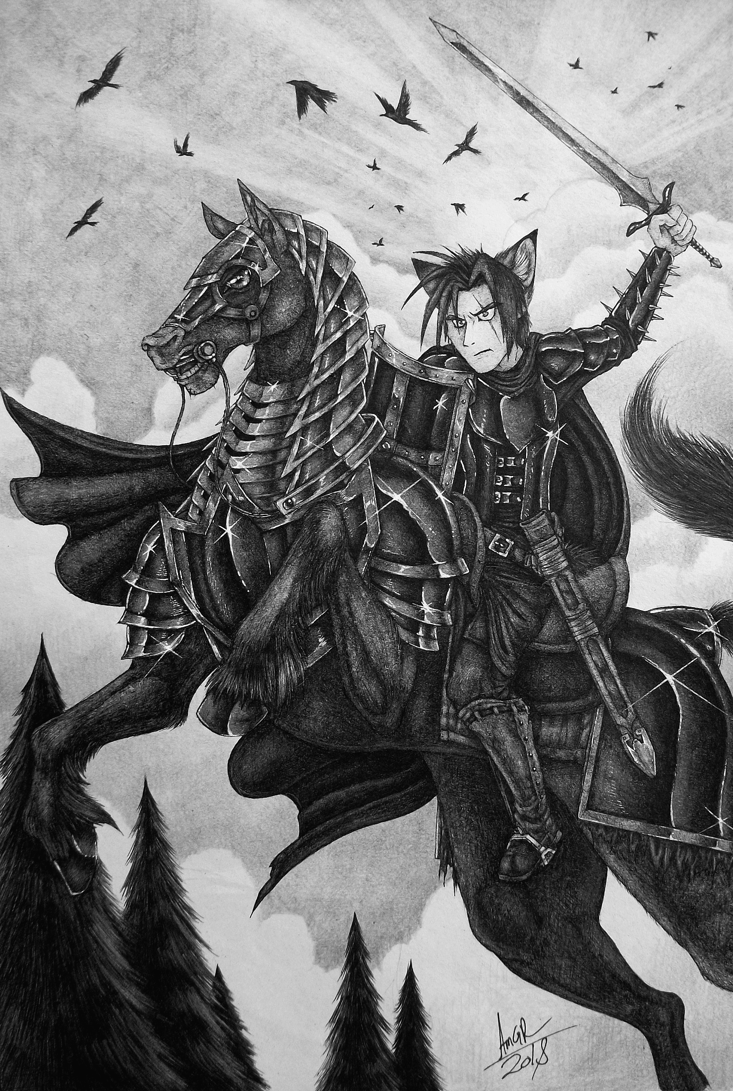 A Warrior and His Mighty Steed