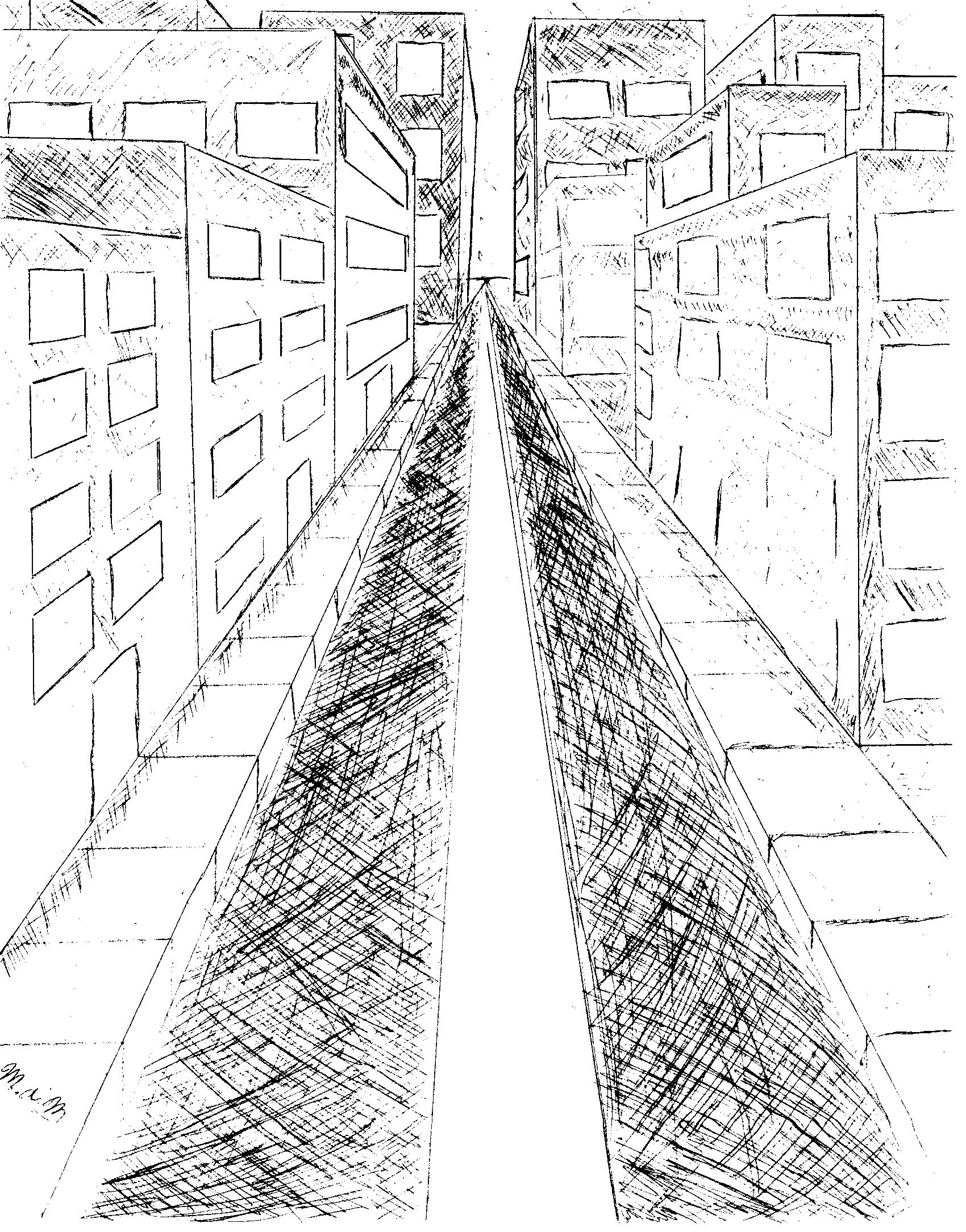 Perspective City Drawing