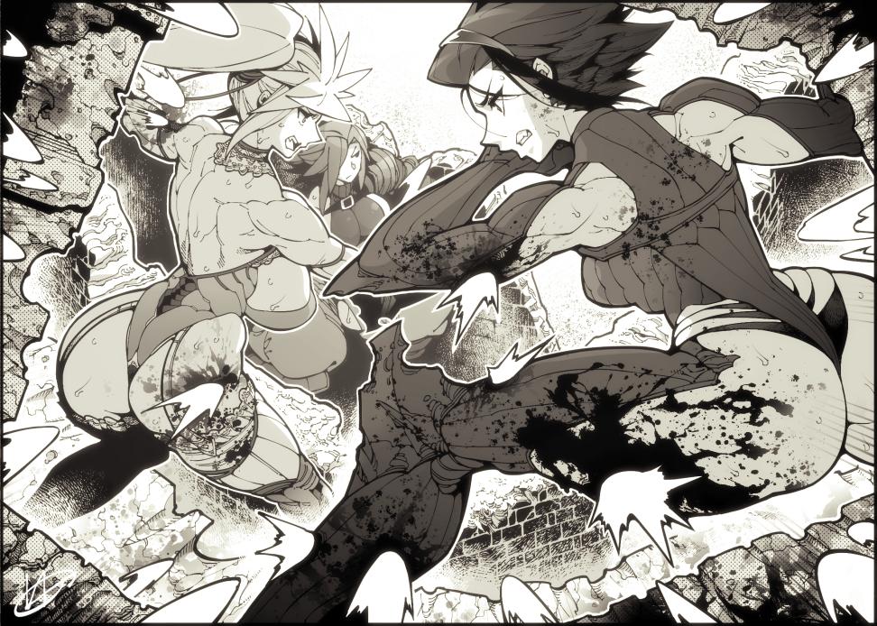 Commission - Rami & Regina & other character (OC)