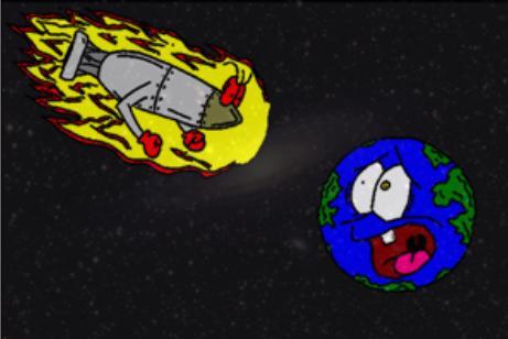 Warhead Toward Earth