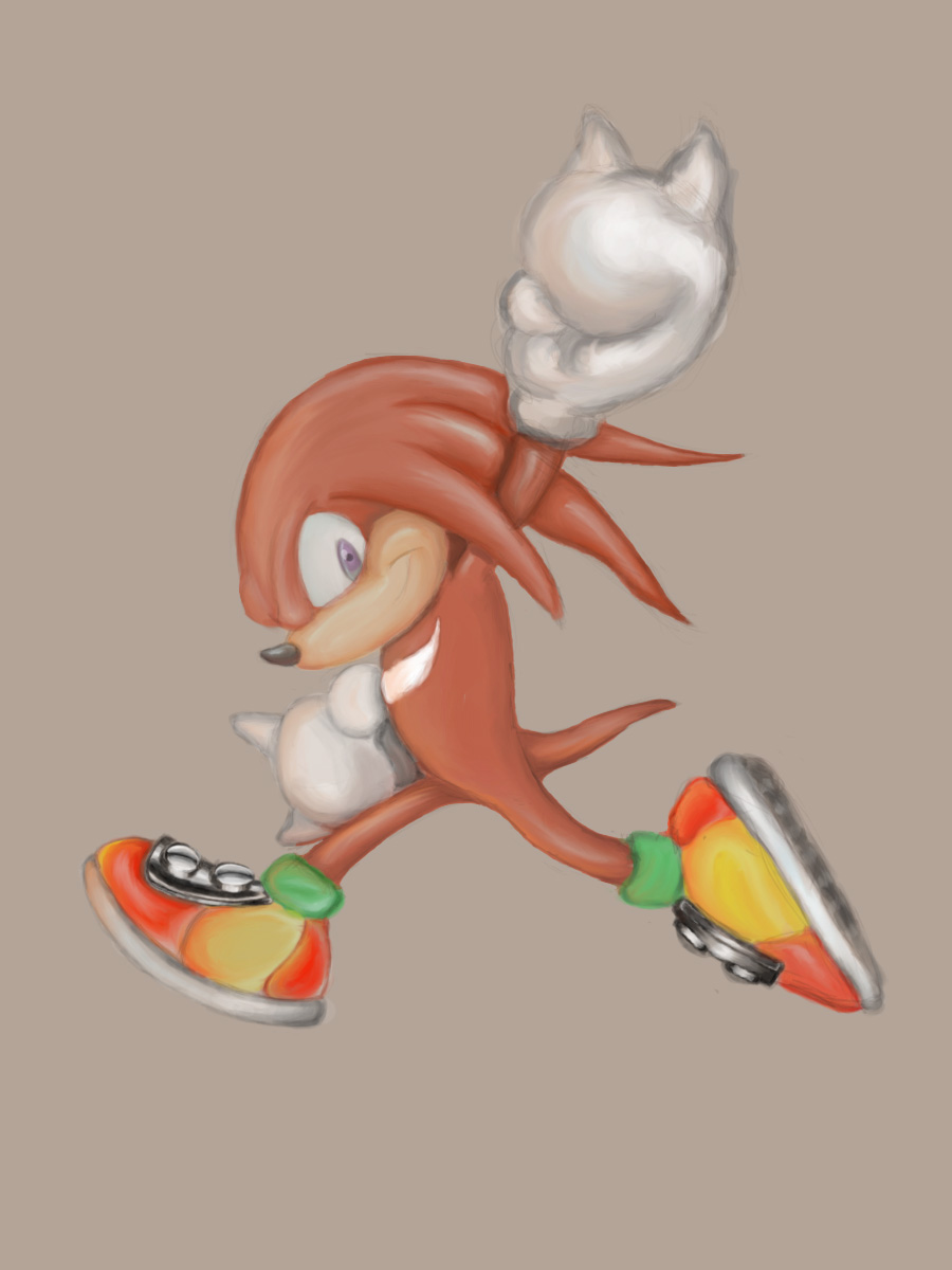 Knuckles Victory Pose